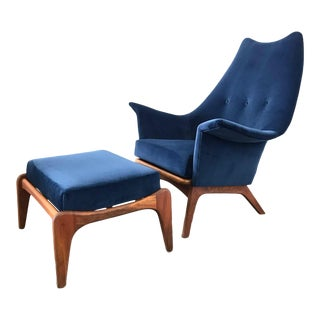 Adrian Pearsall High Back Lounge Chair For Sale