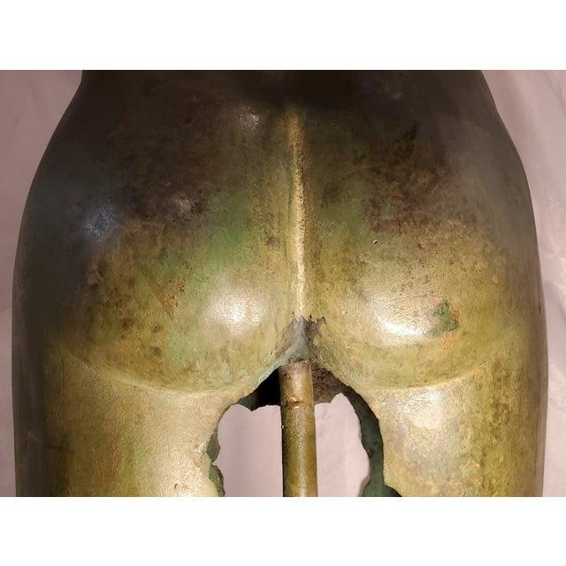 Antique Italian Bronze Life Size Torso W/Stone Base For Sale - Image 11 of 13