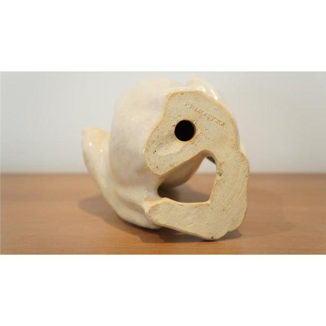 White Claude Levy for Primavera Ceramic Monkey Figurine For Sale - Image 8 of 8