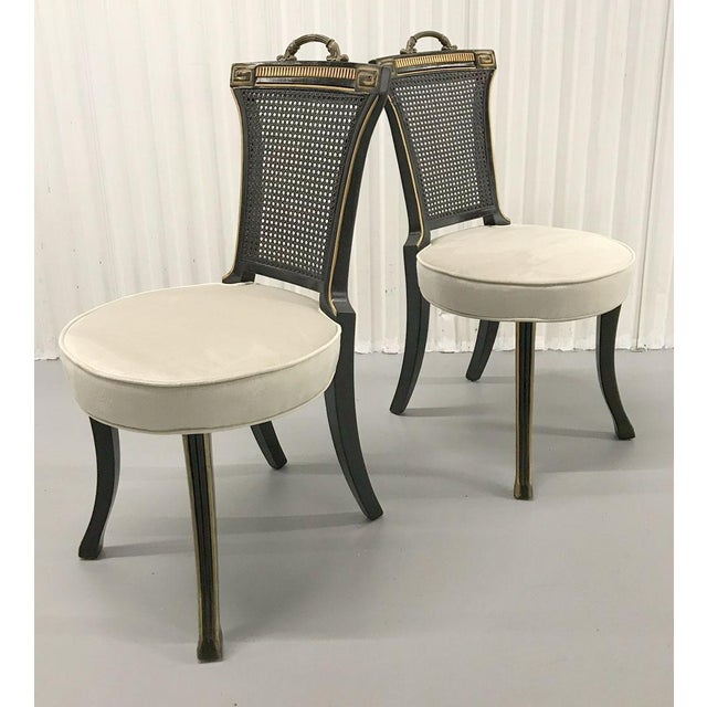 1960s Neoclassical Side Chairs — a Pair For Sale In Atlanta - Image 6 of 11