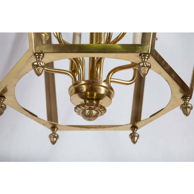 1960s Vintage Hexagonal Brass Lantern For Sale In New York - Image 6 of 8