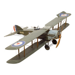 Large Hand Made Replica Bristol F.2b Fighter Model Airplane C.1930 For Sale