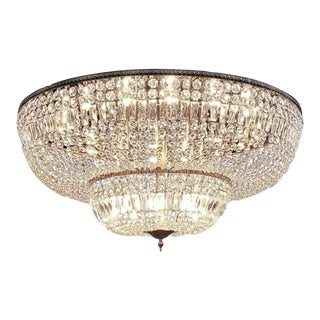 Monumental Crystal Chandelier For Sale