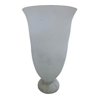 Late 70's Karl Springer Corroso Seguso Murano Glass Lamp For Sale