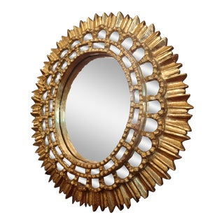 19th Century Spanish Colonial Sunburst Mirror For Sale