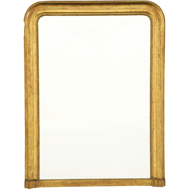 Mid 19th Century Louis Philippe Giltwood Mirror For Sale