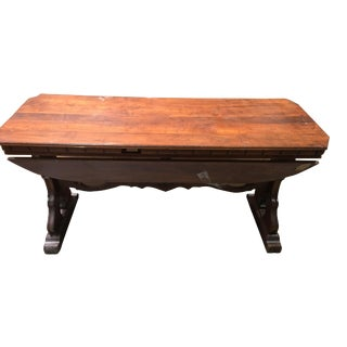 Antique Mahogany Octagonal Side Table With Leaves For Sale
