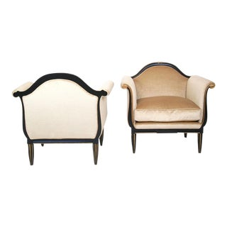 French Art Deco Lounge Chairs - A Pair
