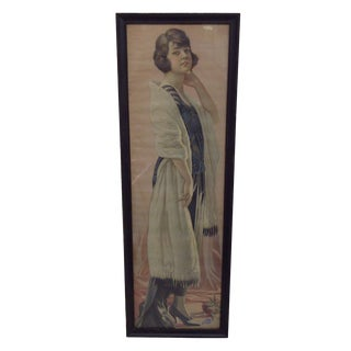 "Vintage ""Selz Shoes"" Advertising Poster 1900's For Sale"