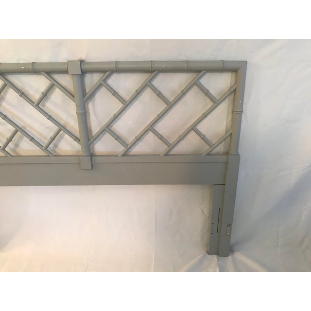 Henry Link Henry Link Bali Hai Chinese Chippendale Queen Fretwork Headboard For Sale - Image 4 of 9