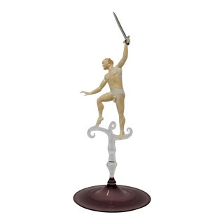 """""""Dancing Satyr With Sword"""" Sculpture by Lucio Bubacco For Sale"""