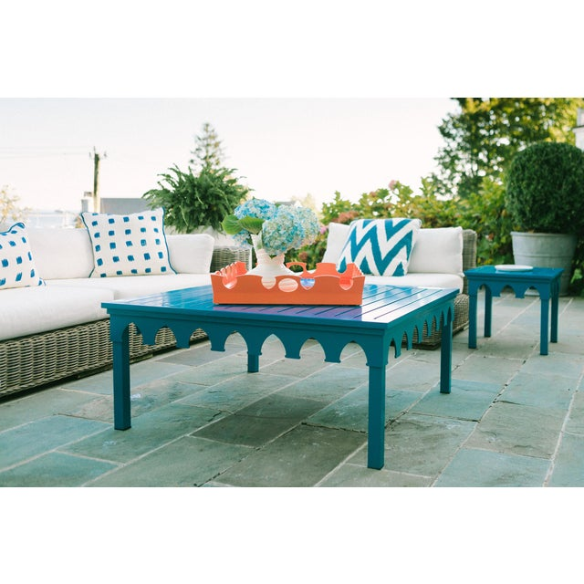 American Oomph Ocean Drive 42 Outdoor Coffee Table, Orange For Sale - Image 3 of 4
