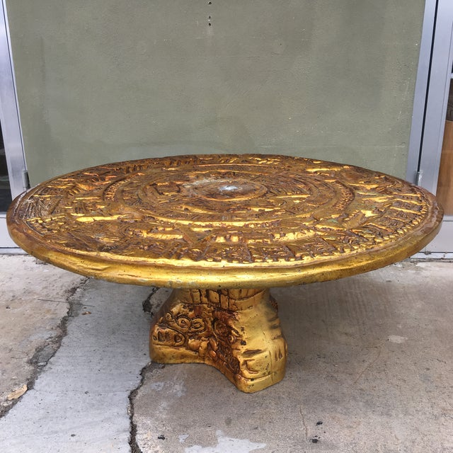 Metal Aztec Calendar Coffee Table - Image 5 of 5