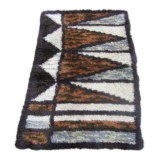 """Swedish Rya Carpet -- 3'1"""" x 4'9"""""""