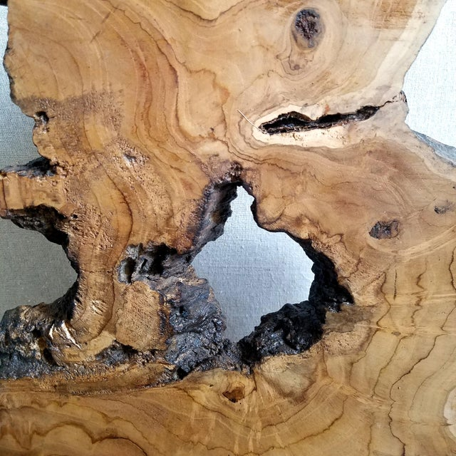 Abstract Overscale Natural Wood Slice Sculpture For Sale - Image 3 of 11