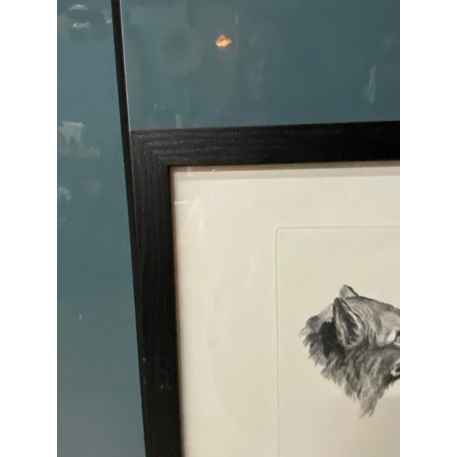 Wood Man as Fox - Physiognomic Heads Series Framed Illustration by Charles Le Bru For Sale - Image 7 of 11