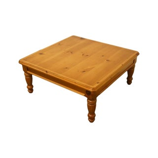Lane Furniture Solid Pine Square Coffee Table For Sale