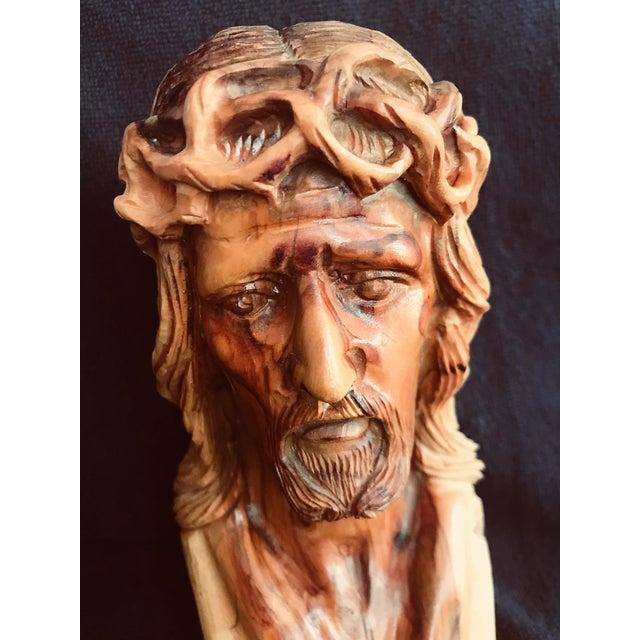 Hand Carved Olive Wood Sculpture - Image 2 of 9