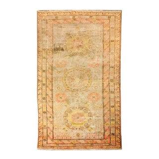 1950s Uzbek Handmade Multicolor Rug - 5′8″ × 12′ For Sale