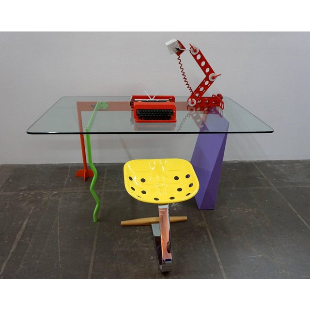 """1980s Peter Shire """"Memphis Milano"""" Desk, 1982 For Sale - Image 5 of 6"""