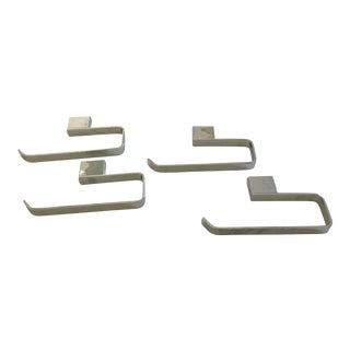 Rohl Modern Caswell Hand Towel Holders - Set of 4 For Sale