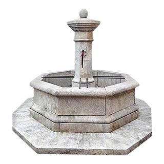 Centrale Octo Limestone Fountain For Sale
