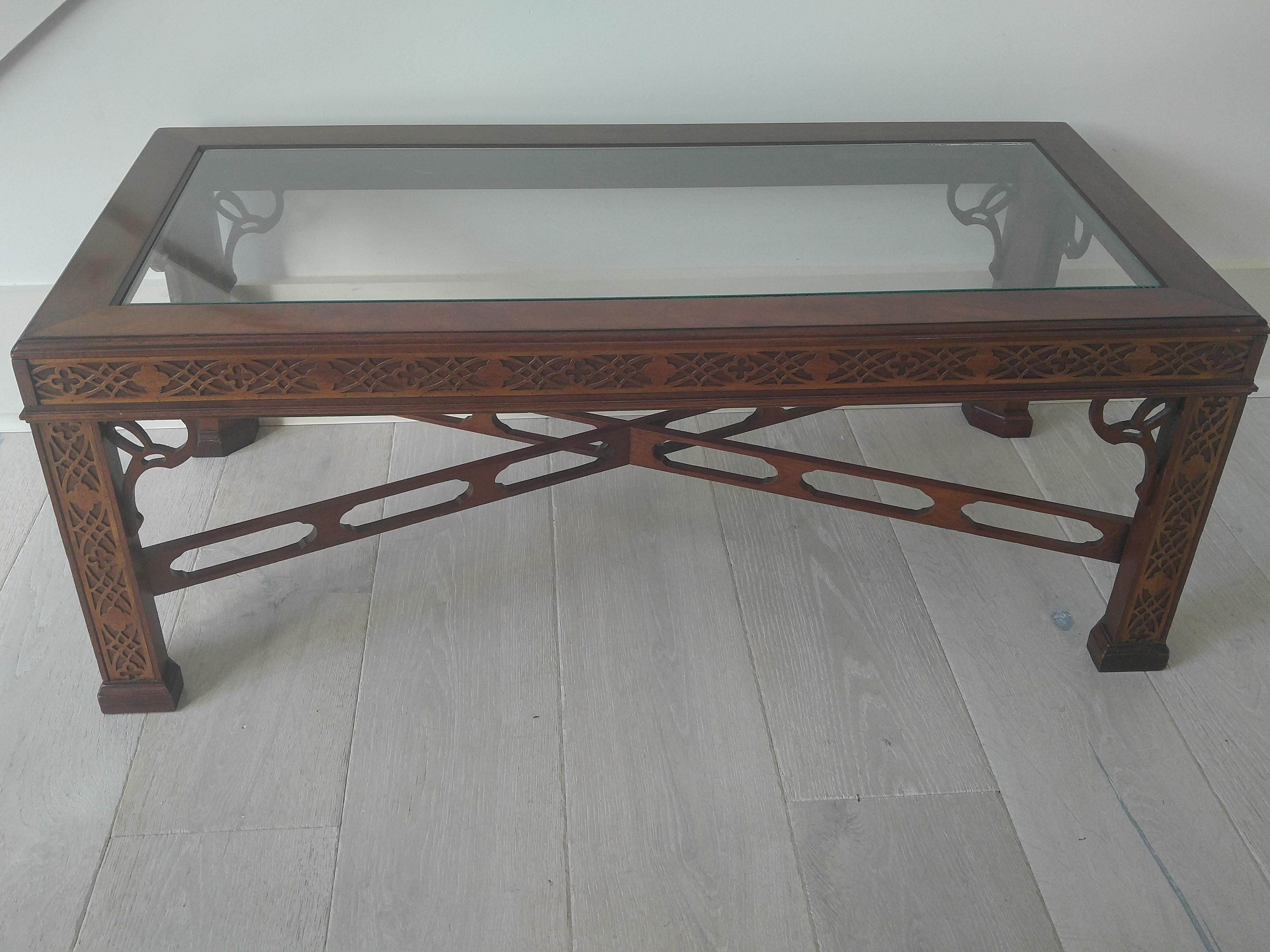 Merveilleux Thomasville Blind Fretwork Coffee Table For Sale   Image 9 Of 10
