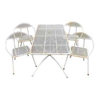Salterini Mid-Century Modern Rid-Jid Steel Outdoor/ Patio Dining Set - 5 Pieces For Sale