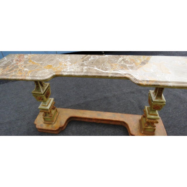 Florentine Marble Top Console Table For Sale In Philadelphia - Image 6 of 9