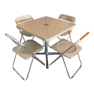 Giancarlo Piretti for Castelli Table & Chairs - Set of 5