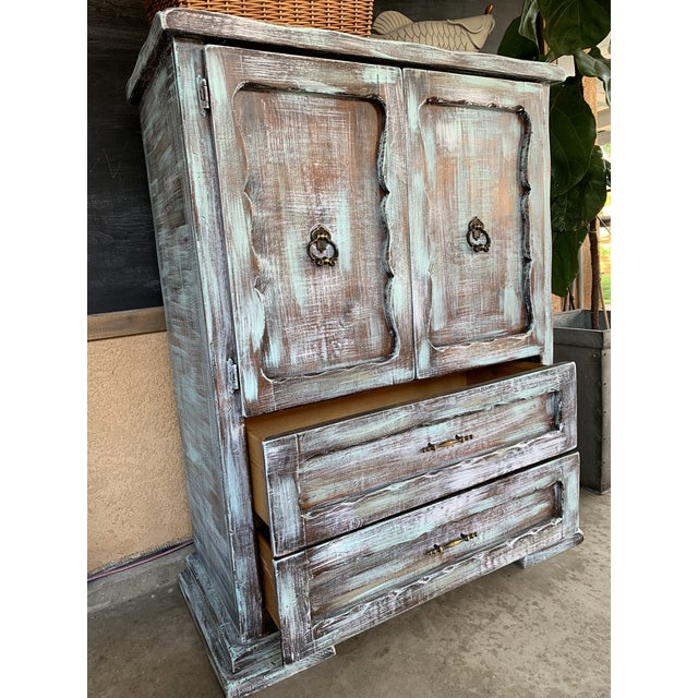 1930s Antique Rustic Armoire For Sale - Image 4 of 5