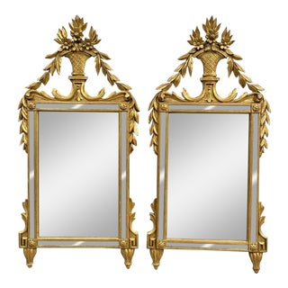 19th C Italian Neo-Classical Pair of Mirrors - a Pair For Sale