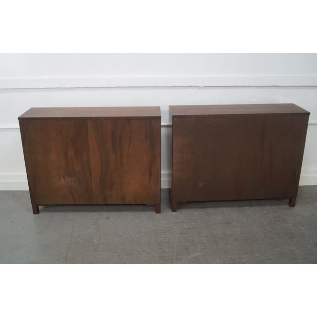 Mid-Century Modern Walnut Low Bookcases - Pair - Image 4 of 10