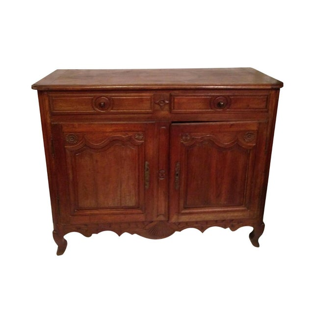 19th Century French Louis XV Walnut Buffet For Sale - Image 10 of 11