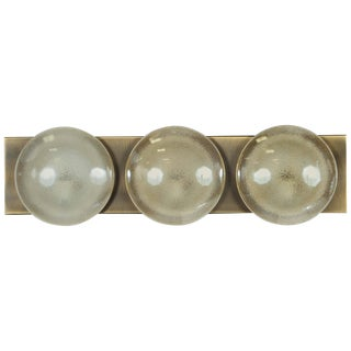 Three Globe Opalescent Sconce by Doria For Sale