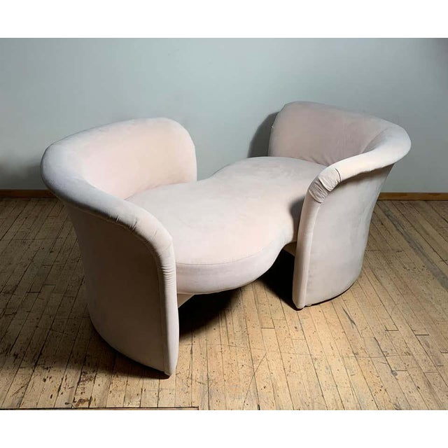 Thayer Coggin Tete-a-Tete Love Seat Sofa by Milo Baughman / manner of Vladimir Kagan For Sale - Image 4 of 13