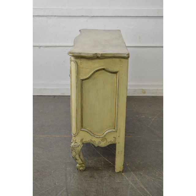 Louis XV Antique 18th Century French Louis XV Style Painted 2 Door Console Server For Sale - Image 3 of 10