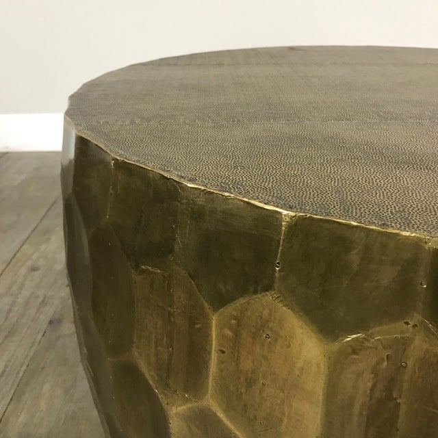 Pottery Barn Metal Clad Coffee Table - Image 4 of 10