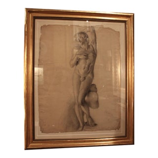 Michelangelo's Dying Captive Drawing For Sale