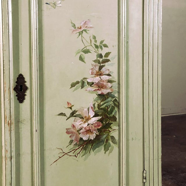Antique Belle Epoque Painted Cabinet For Sale - Image 9 of 13