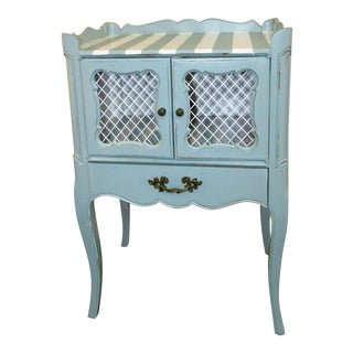 Small Accent Side Table Cabinet For Sale