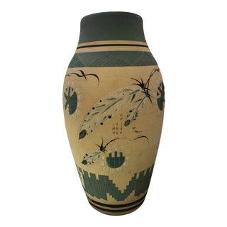 Handmade Raku Native American Style Pottery Vase by Mark Nowak For Sale