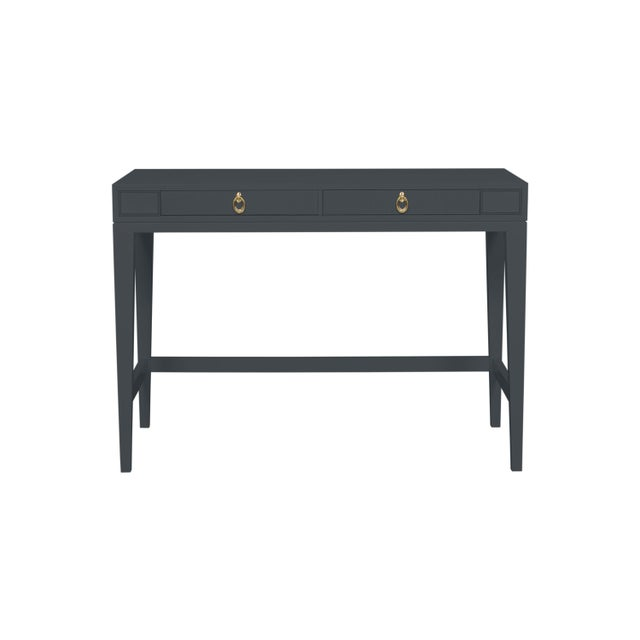 Traditional Casa Cosima Living Issa Counter Height Desk - Raccoon Fur For Sale - Image 3 of 3
