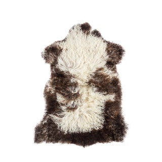 "Contemporary Natural Wool Sheepskin Pelt - 2'5""x3'7"""