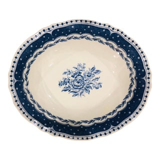 Chinoiserie Blue and White Transferware Bowl For Sale