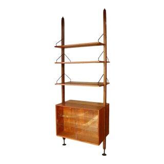 Poul Cadovius Floating Cabinet Wall Shelving Unit Bookshelf Bookcase For Sale