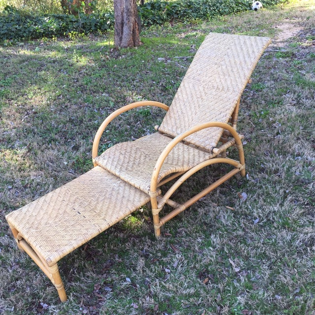 Vintage Wicker Chaise - Image 2 of 5