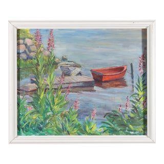 """""""View of the Dock"""" Oil Painting For Sale"""