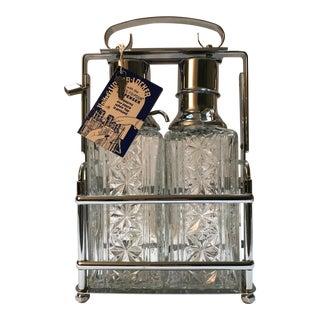 1960's Vintage United Liquor Pump Glass Decanter Bottles- A Pair For Sale