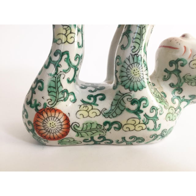 Mid 20th Century Vintage Ceramic Chinoiserie Monkey Dish For Sale - Image 5 of 7